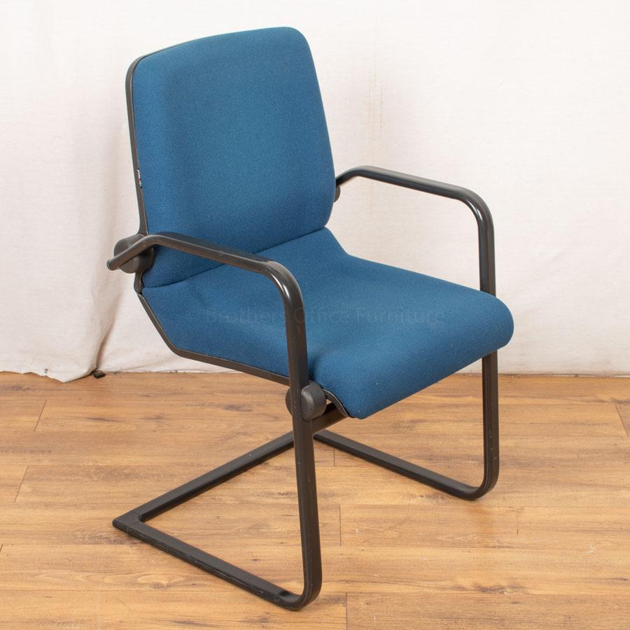 Ahrend Blue Cantilever Meeting Chair