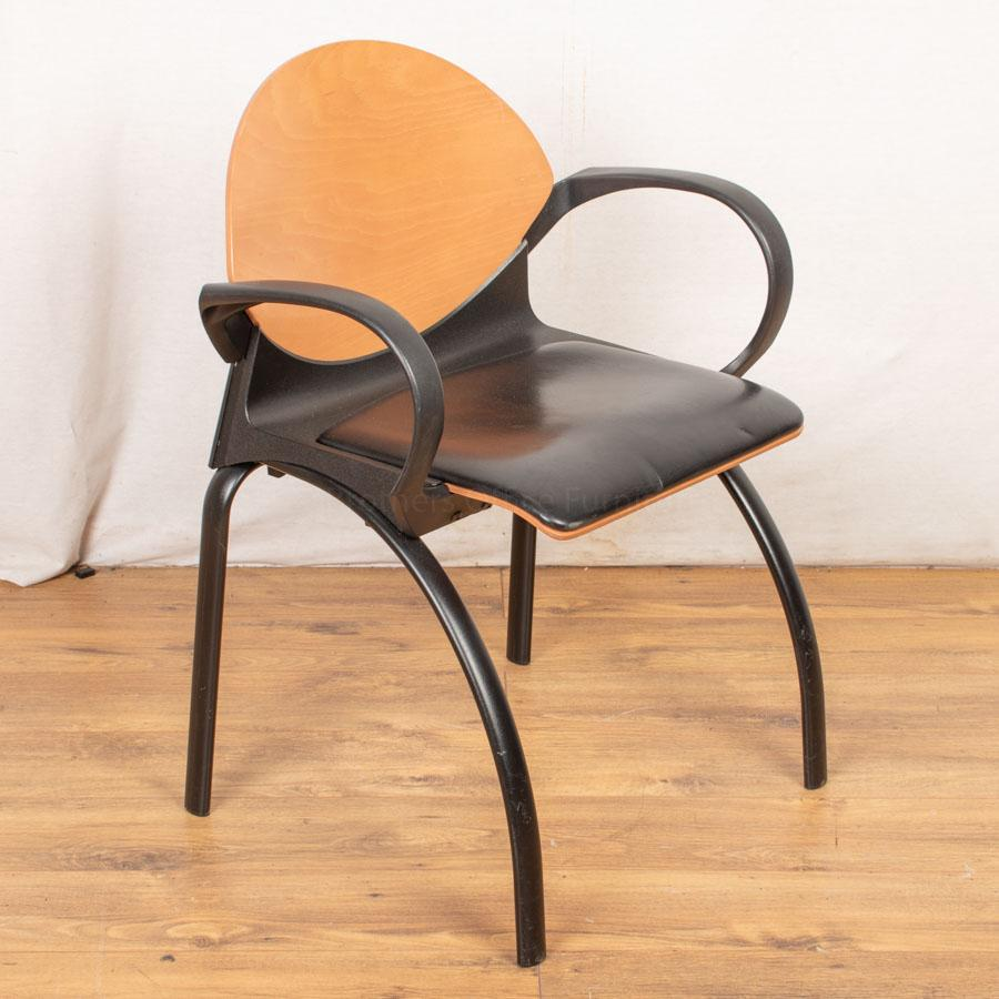 Steelcase Strafor Leather Stacking Chair