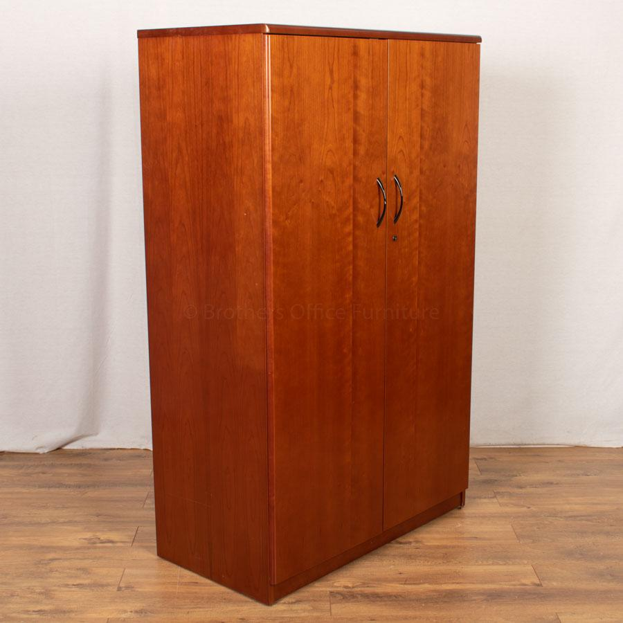 Cherry Veneer 1650H Executive Storage Cupboard