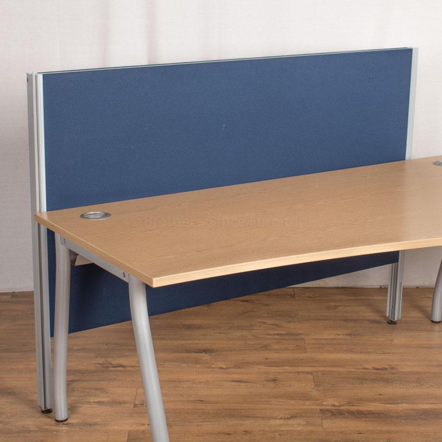 Blue 1600W Floor Standing Desk Divider (UDS66)