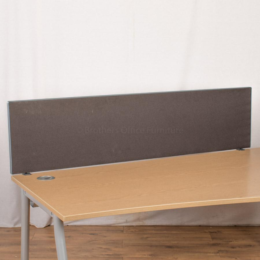 Black 1600W Desk Divider (UDS72)