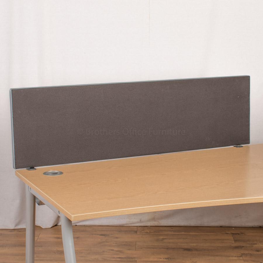 Black 1400W Desk Divider (UDS74)
