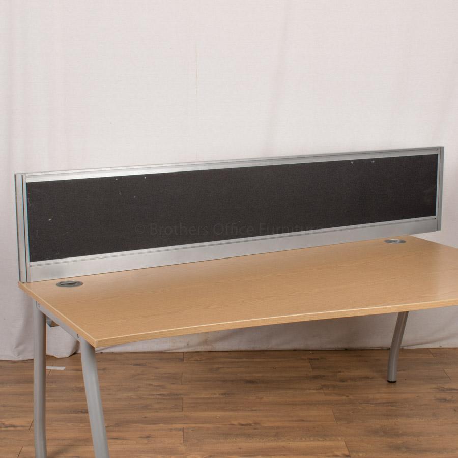 Black 2000W Desk Divider (UDS82)