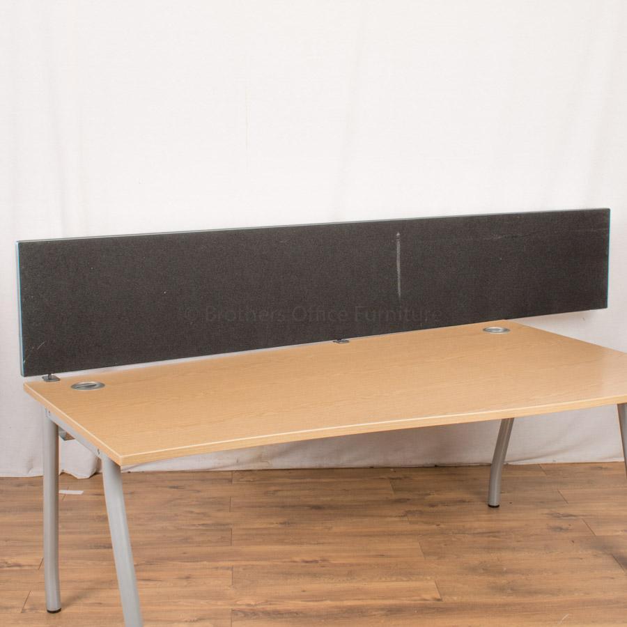 Black 2335W Desk Divider (UDS83)