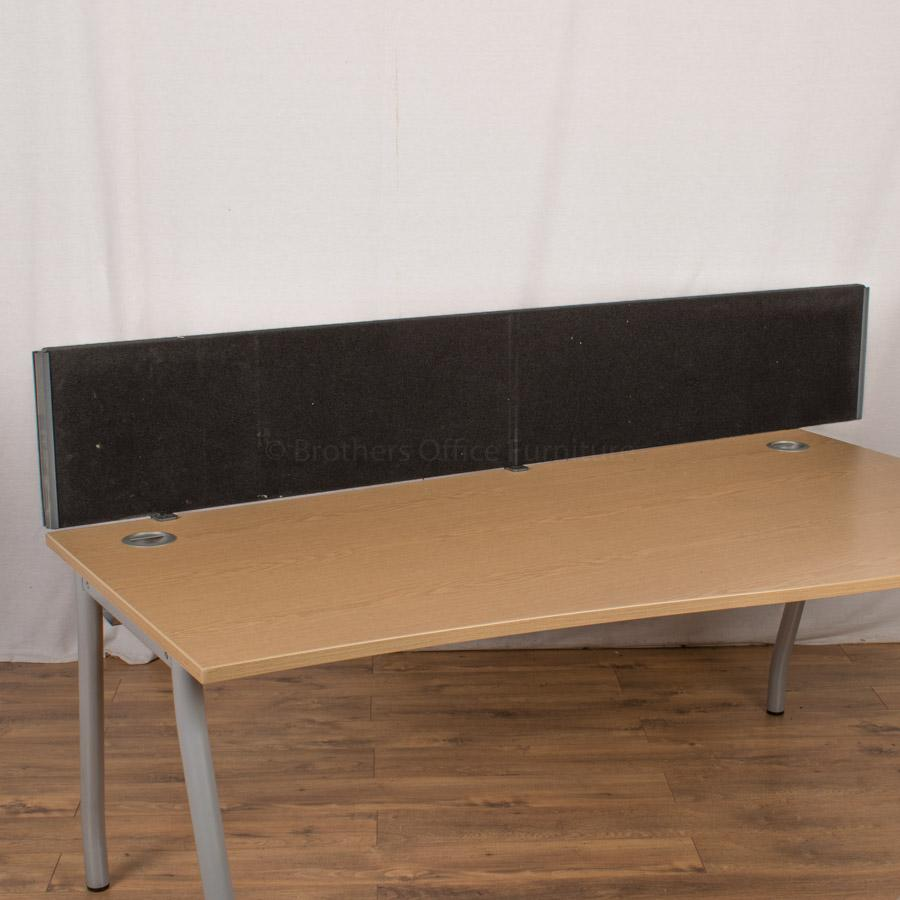 Black 2000W Desk Divider (UDS86)
