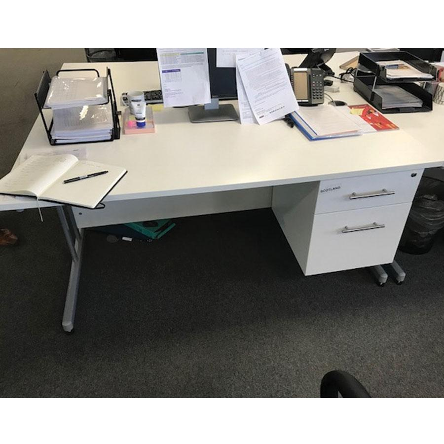 White 1600x800 Straight Workstation (SD132)