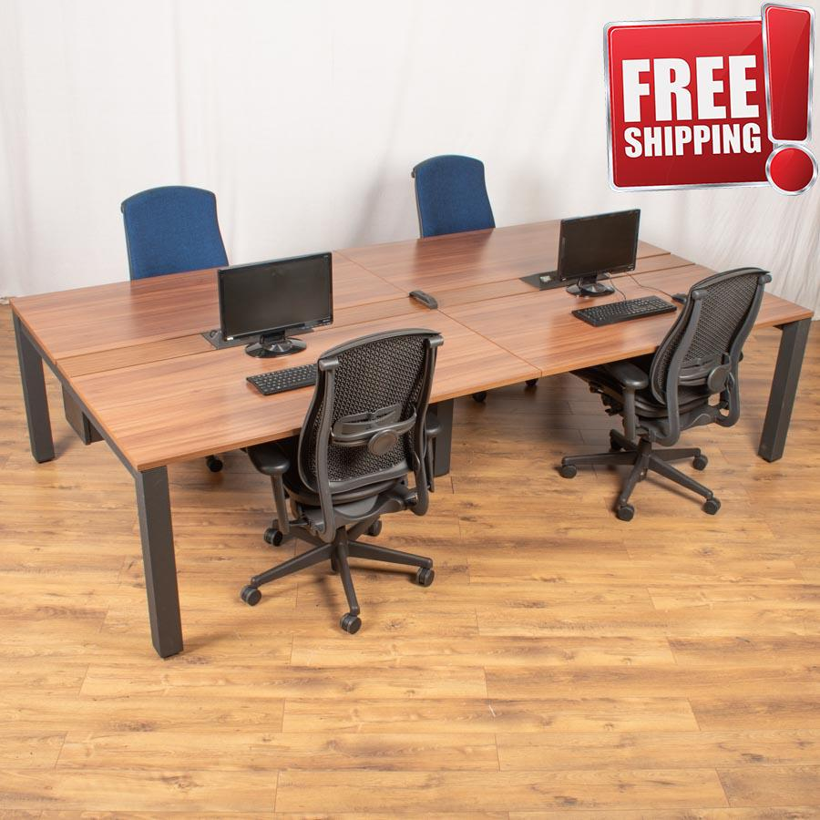 Herman Miller Sense Walnut Bench Desks