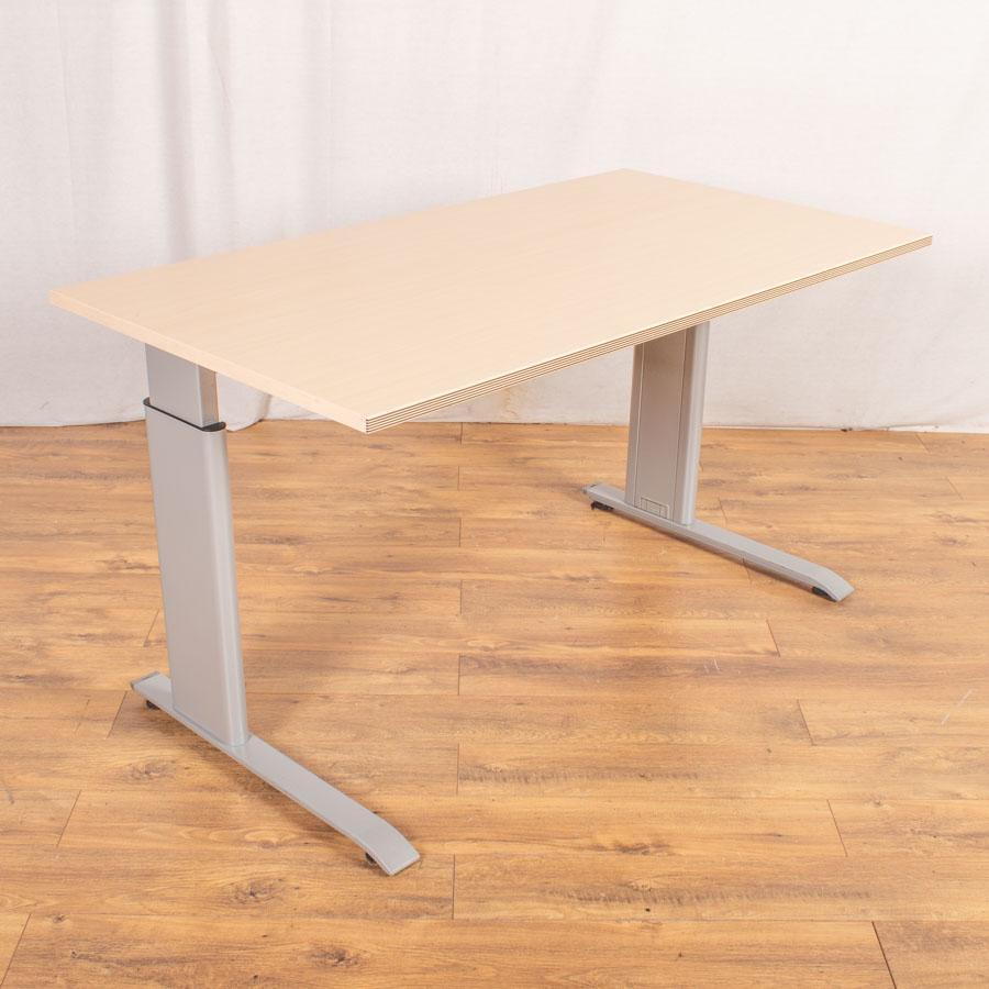 Bene Maple Height Adjustable Straight Desk