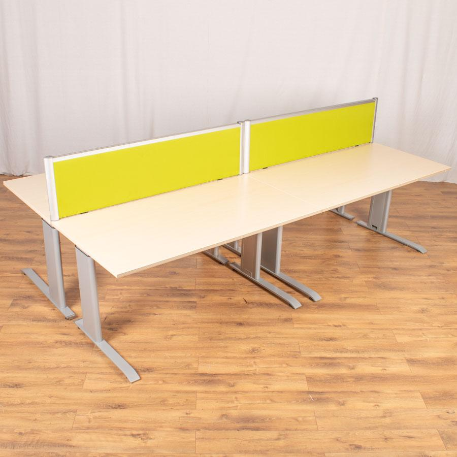 Bene Maple Height Adjustable Straight Desk
