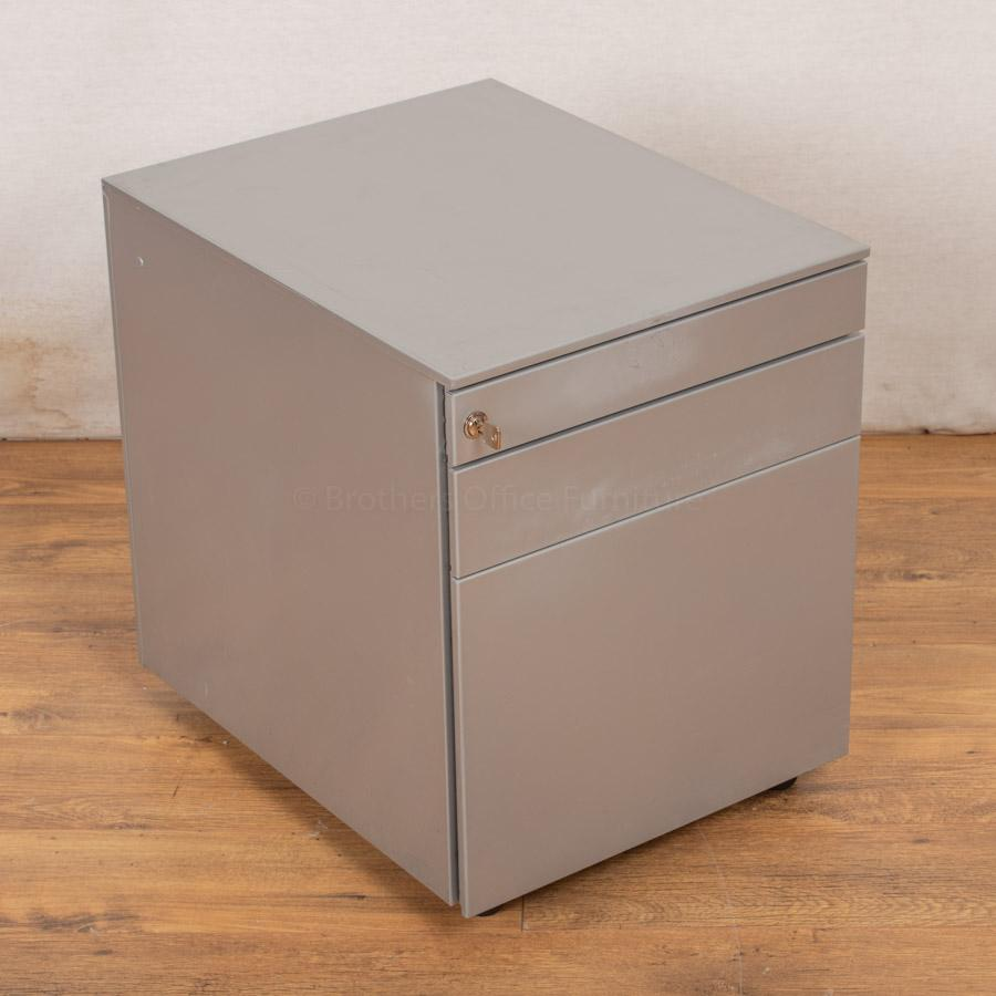 Bene Steel 3 Drawer Under Desk Pedestal