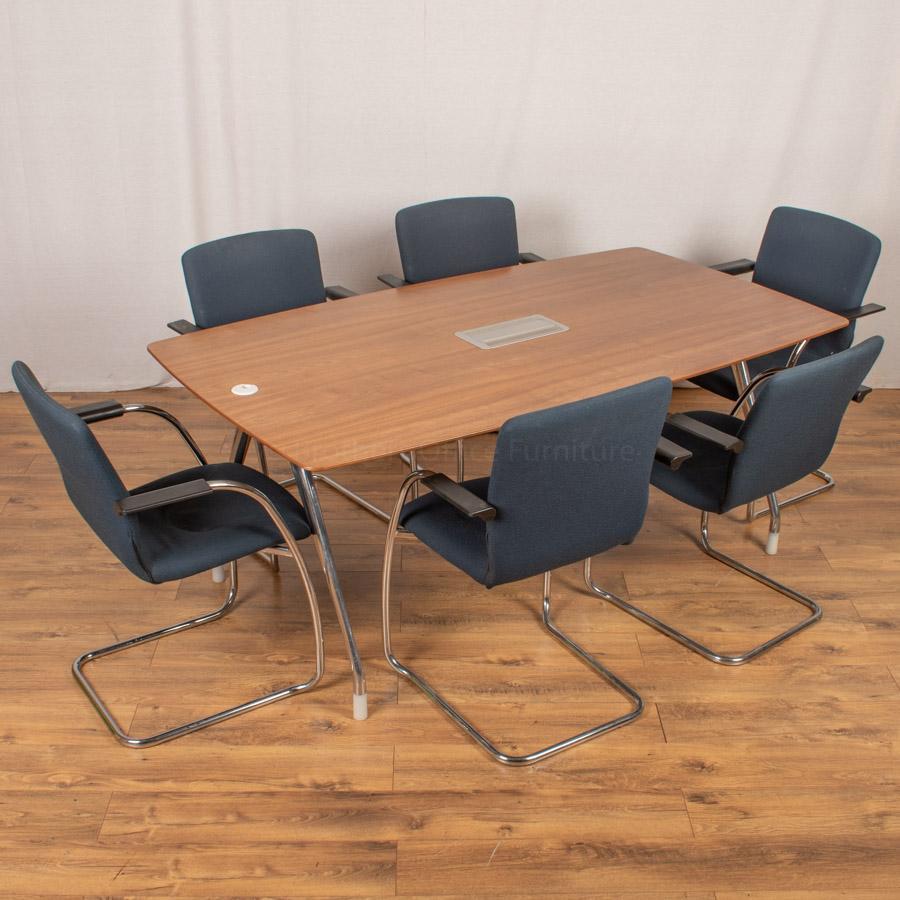 Herman Miller Walnut Veneer 1800x1000 Meeting Table