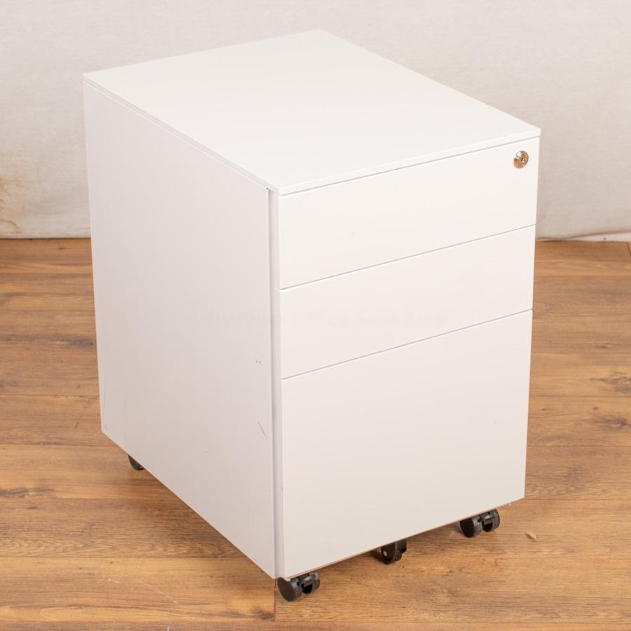 White Steel Under Desk Pedestal (PED50)