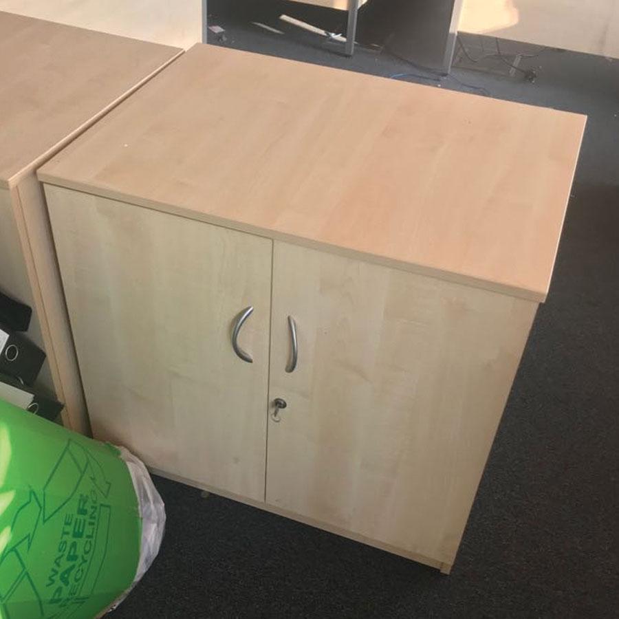Bravo Maple Desk High Office Cupboard