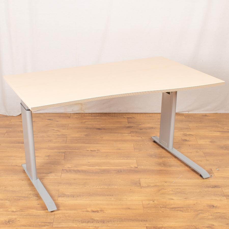 Bene Maple Height Adjustable Wave Desk