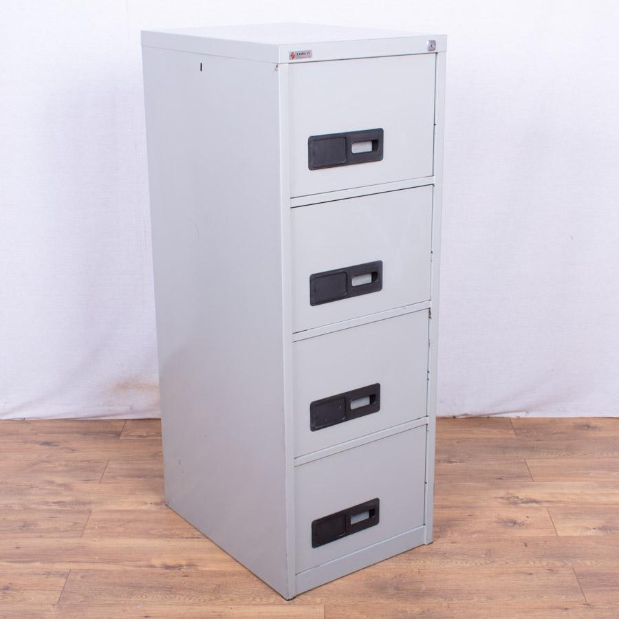 Easiscan Light Grey 4 Drawer Filing Cabinet (FC73)