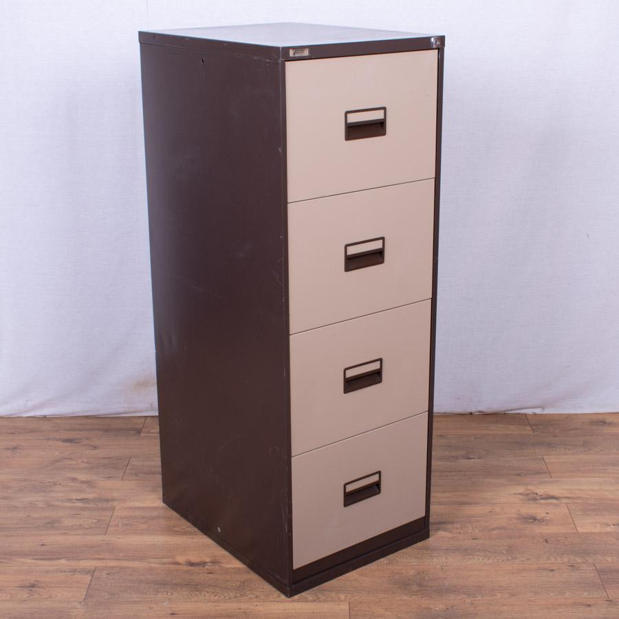 Triumph Brown/Cream 4 Drawer Filing Cabinet (FC76)