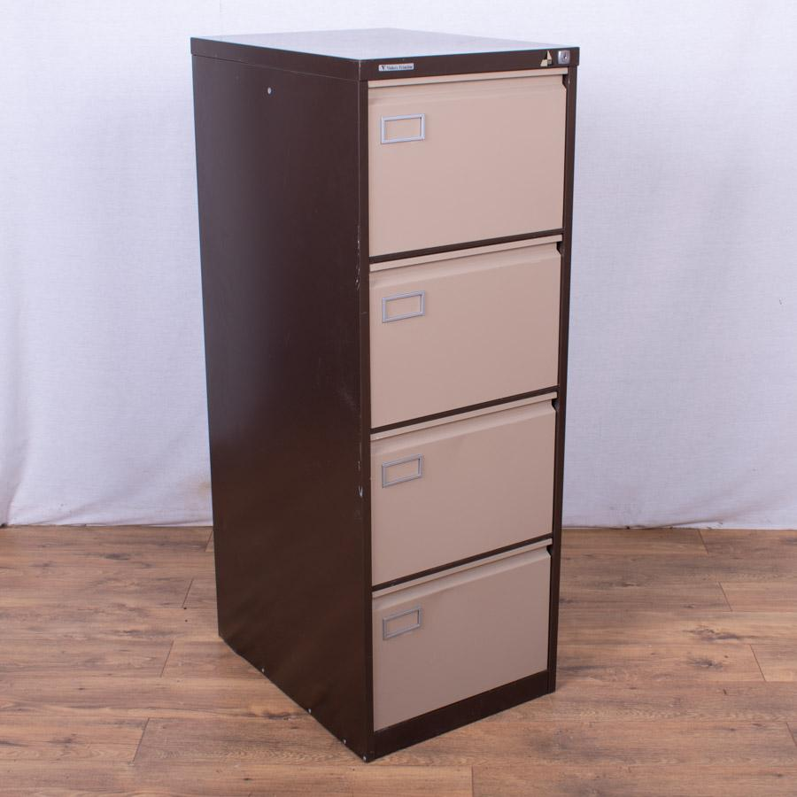 Brown/Cream 4 Drawer Filing Cabinet (FC79)