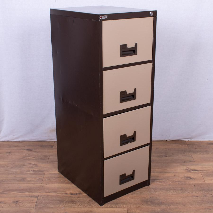 Brown/Cream 4 Drawer Filing Cabinet (FC81)
