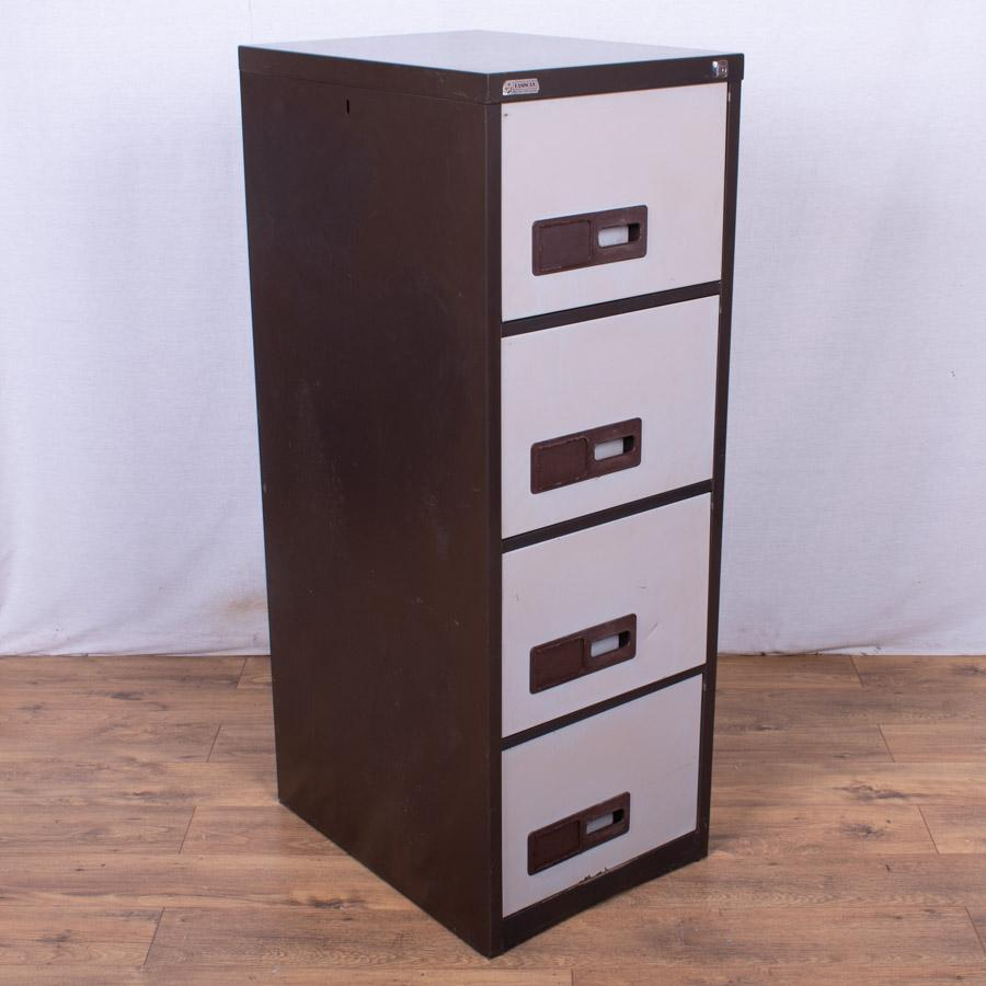 Brown/Cream 4 Drawer Filing Cabinet (FC83)