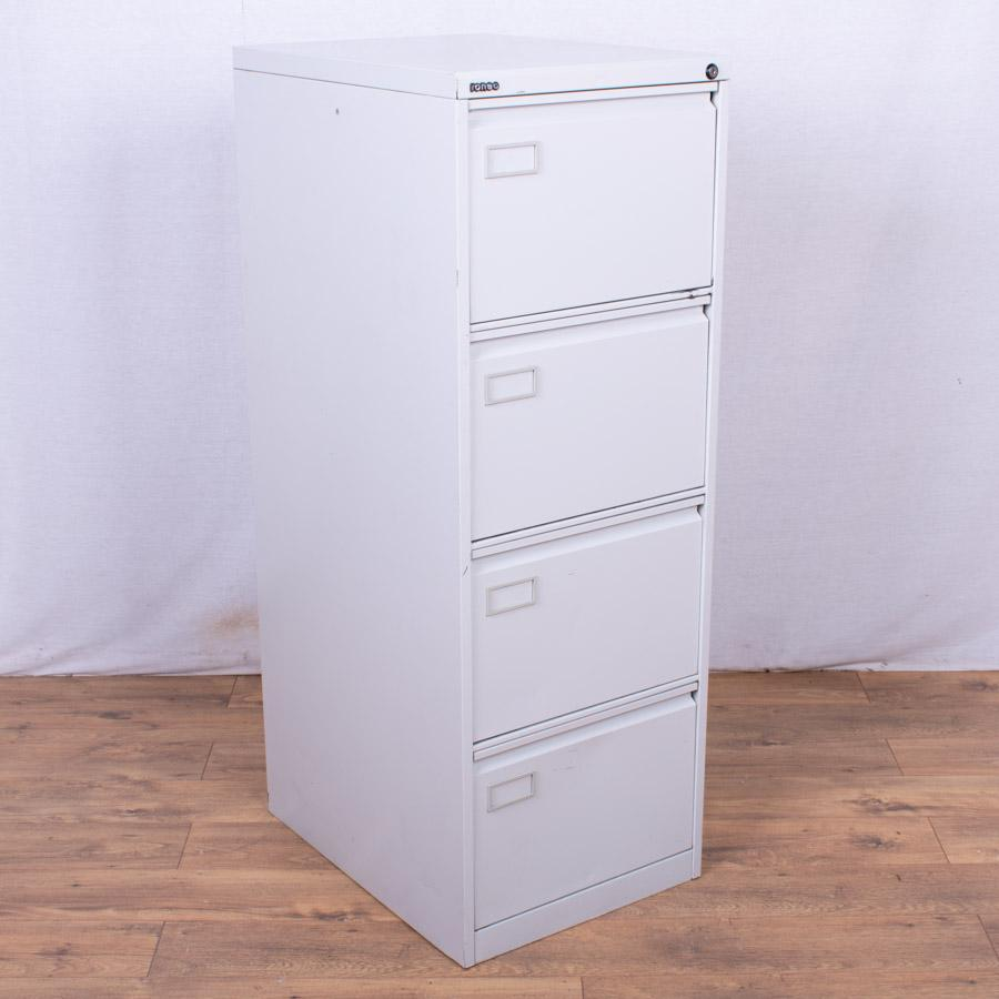 Roneo Light Grey 4 Drawer Filing Cabinet (FC84)