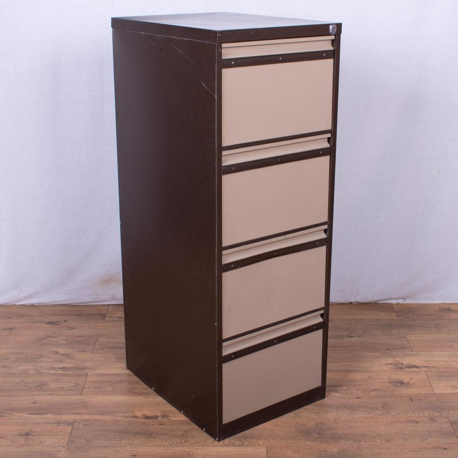 Brown/Cream 4 Drawer Filing Cabinet (FC85)