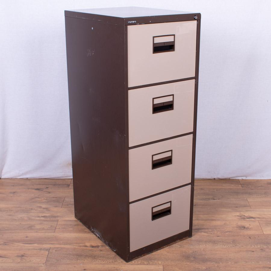 Brown/Cream 4 Drawer Filing Cabinet (FC86)