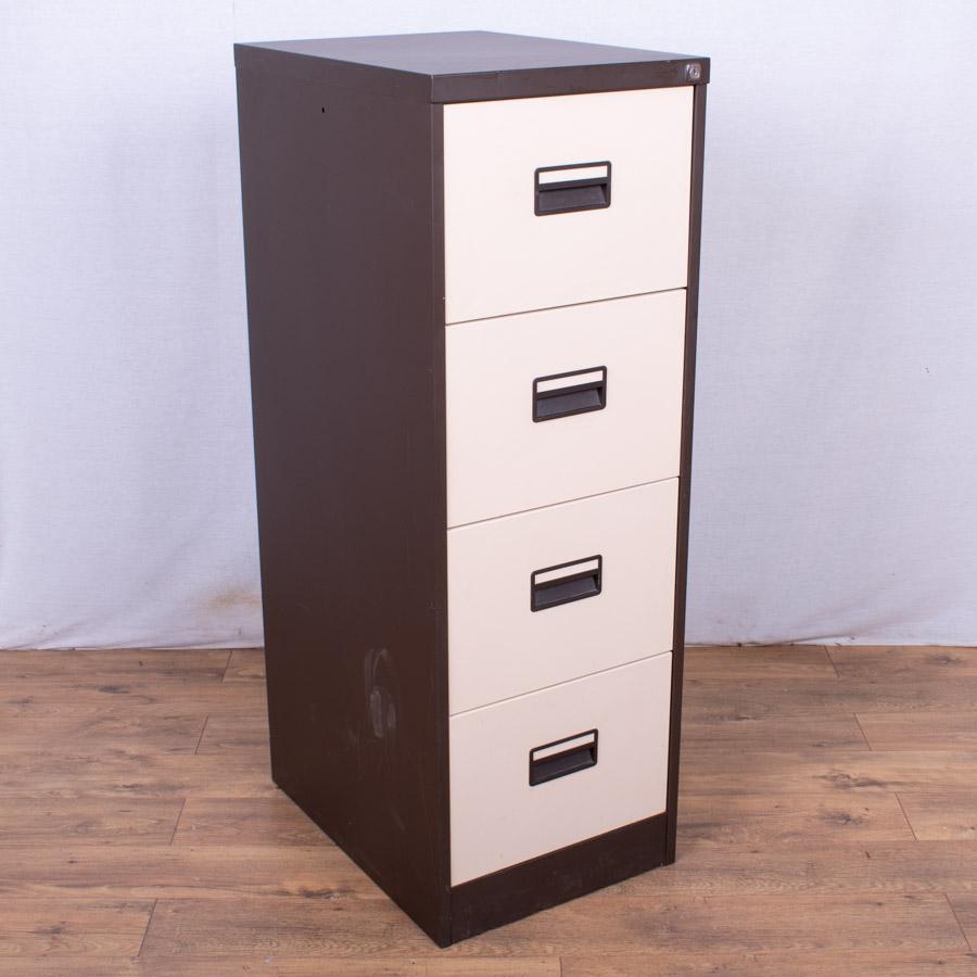 Brown/Cream 4 Drawer Filing Cabinet (FC88)