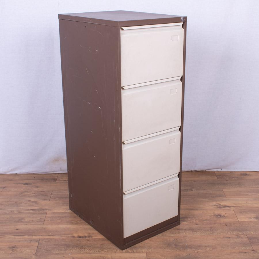 Brown/Cream 4 Drawer Filing Cabinet (FC89)