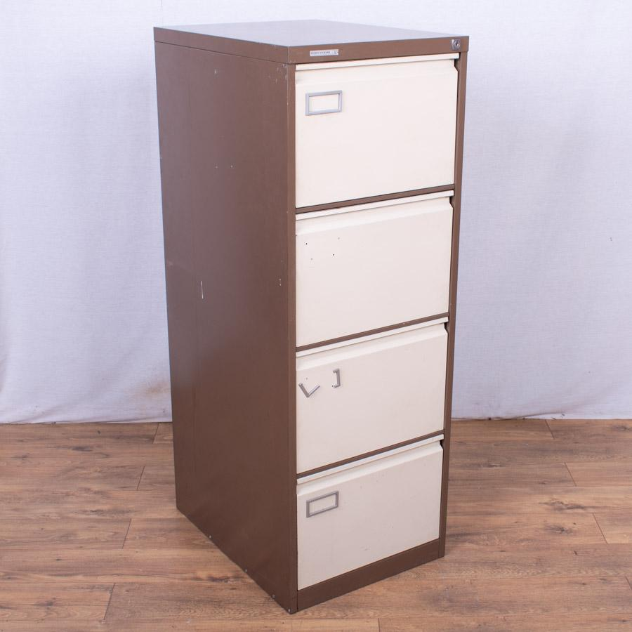 Brown/Cream 4 Drawer Filing Cabinet (FC90)