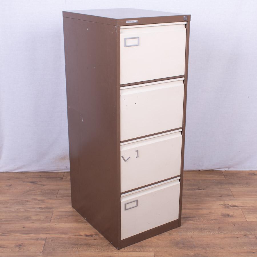 Brown/Cream 4 Drawer Filing Cabinet (FC90)