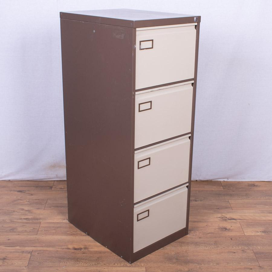 Brown/Cream 4 Drawer Filing Cabinet (FC91)