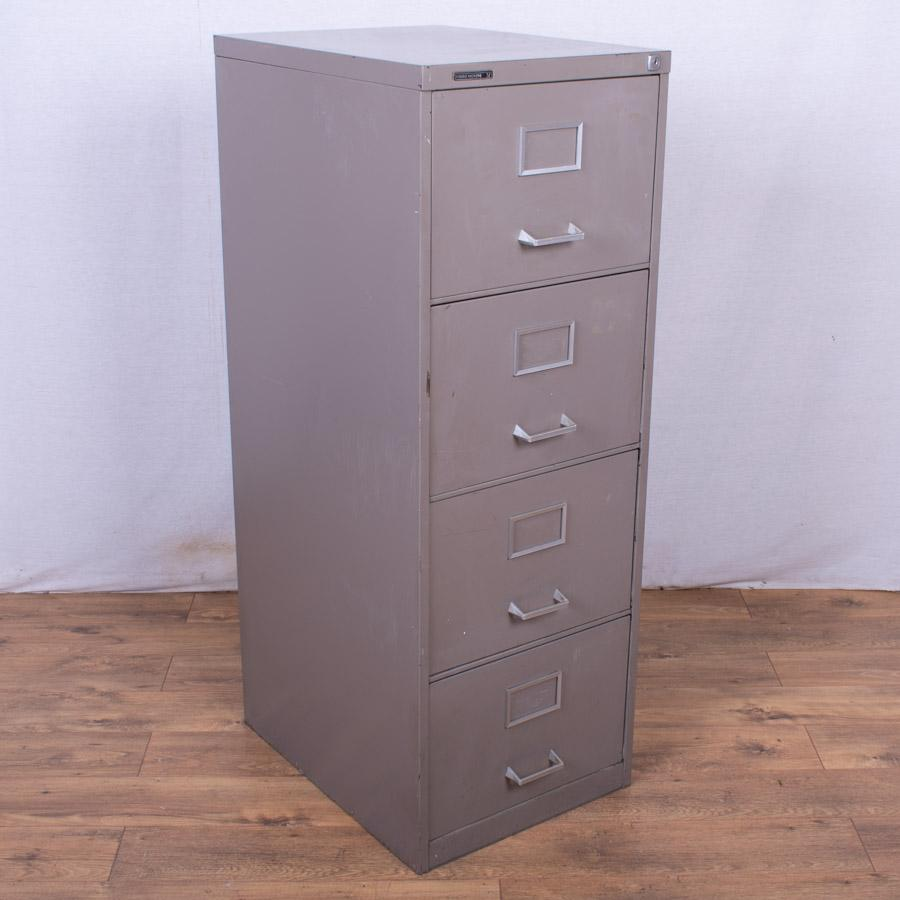 Grey 4 Drawer Filing Cabinet (FC92)