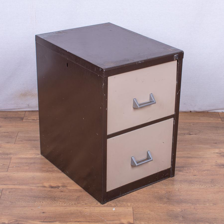 Brown/Cream 2 Drawer Filing Cabinet (FC95)
