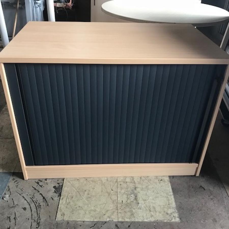 Beech 725H Tambour Cupboard