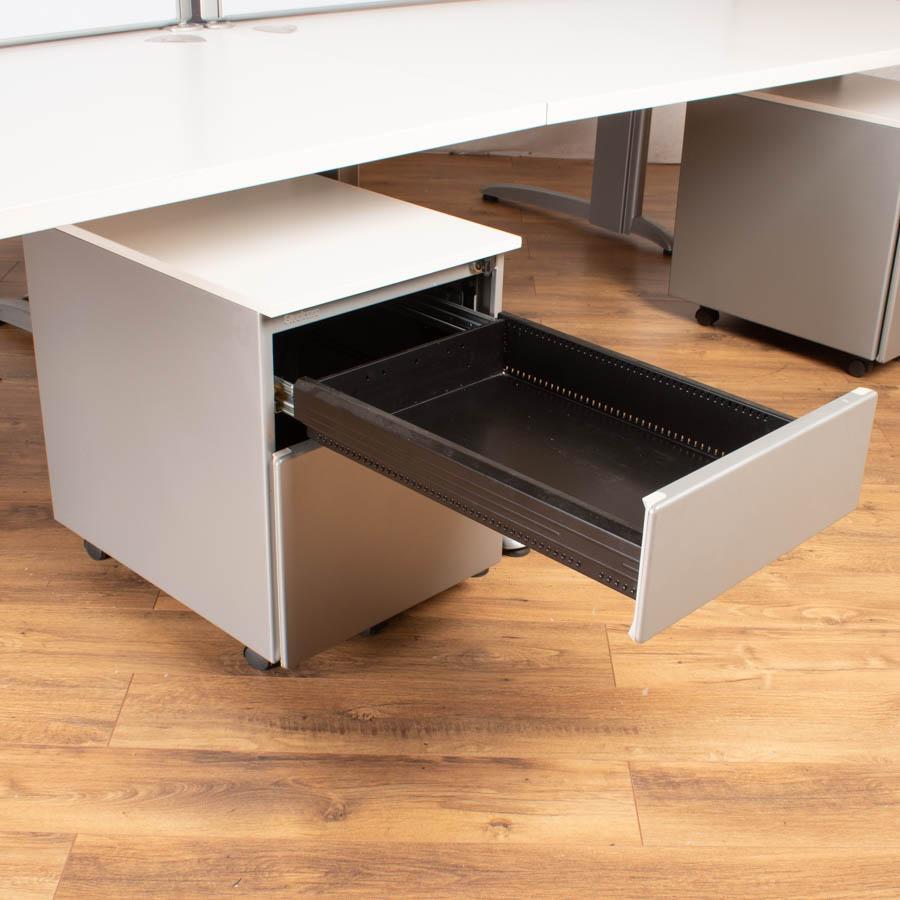 Steelcase Marl White 1600x800 Straight Workstation