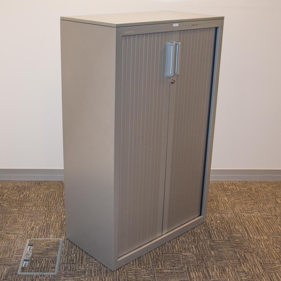 Steelcase 1400H Tambour Cupboard - Shelves