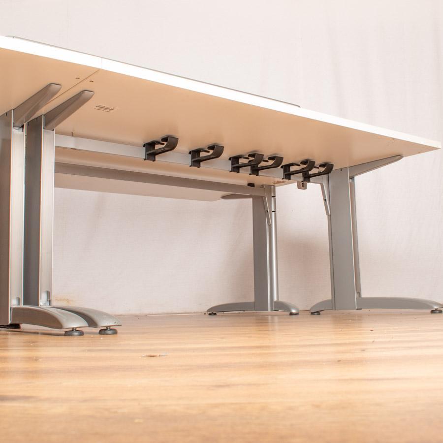 Steelcase Marl White 1600x800 Straight Desk