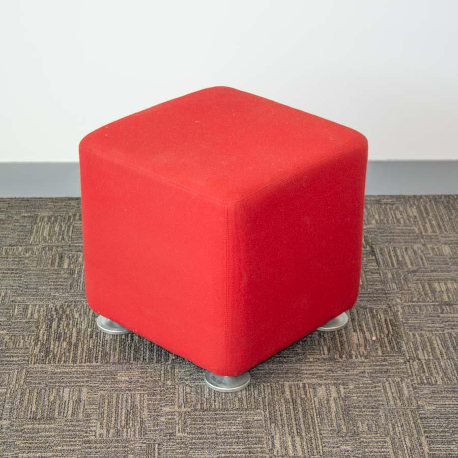 Steelcase Red Fabric Stool