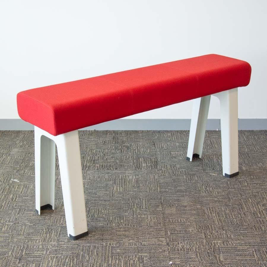 Steelcase Red Fabric High Bench