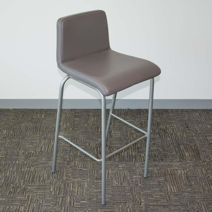 Steelcase Grey Leather High Stool
