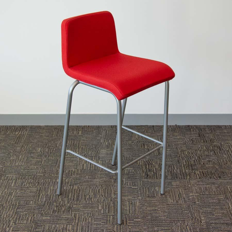 Steelcase Grey Fabric High Stool