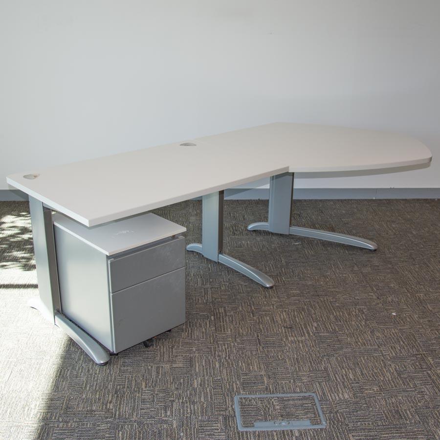 Steelcase Marl White 1200x800 Straight with Return