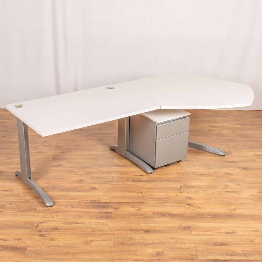 Steelcase Marl White Meeting End Workstation