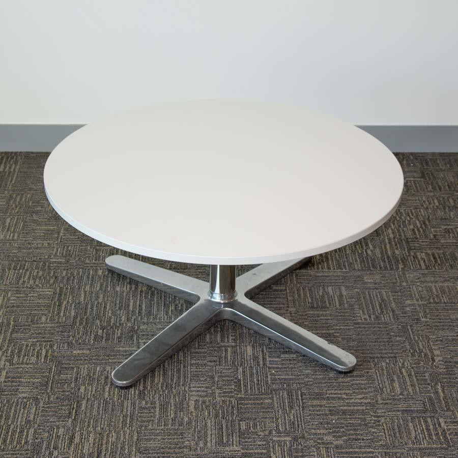 Steelcase White Round Coffee Table