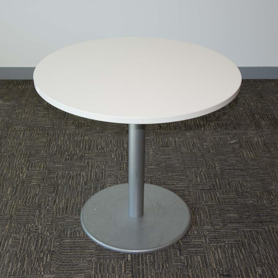 Steelcase White 800D Round Office Table (RT103)