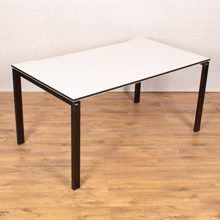 Bene T-Workstation White/Black Bench Desks | Singl