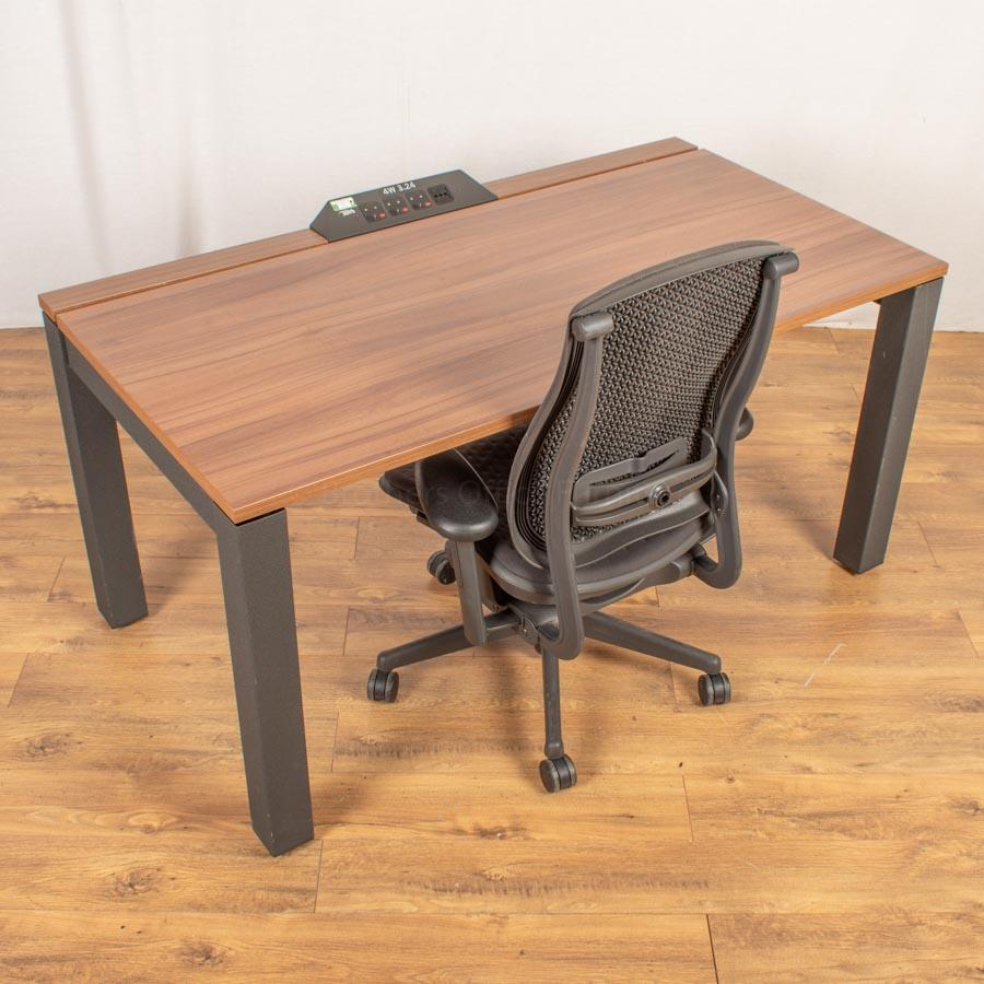 Herman Miller Sense Walnut Bench Desks | Single