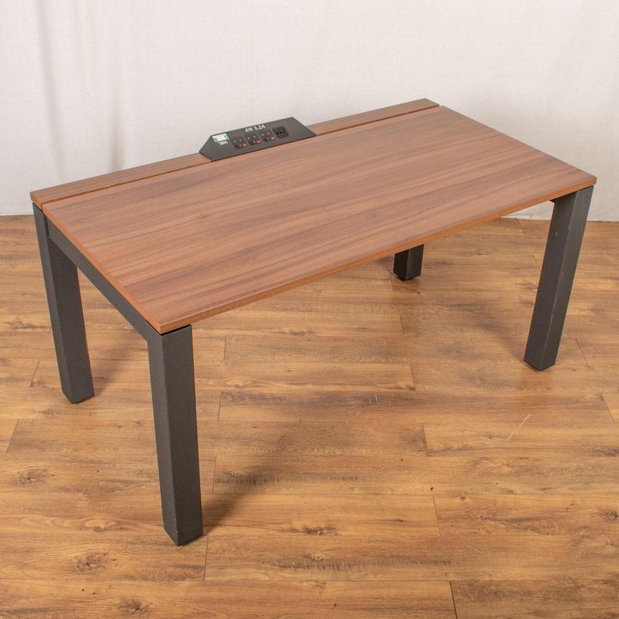 Herman Miller Sense Walnut Bench Desks | Single