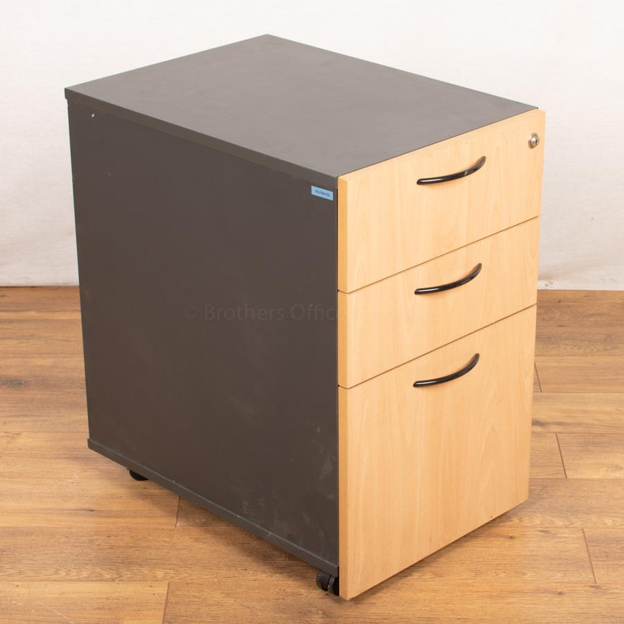 Beech Fronted Office Pedestal (PED53)
