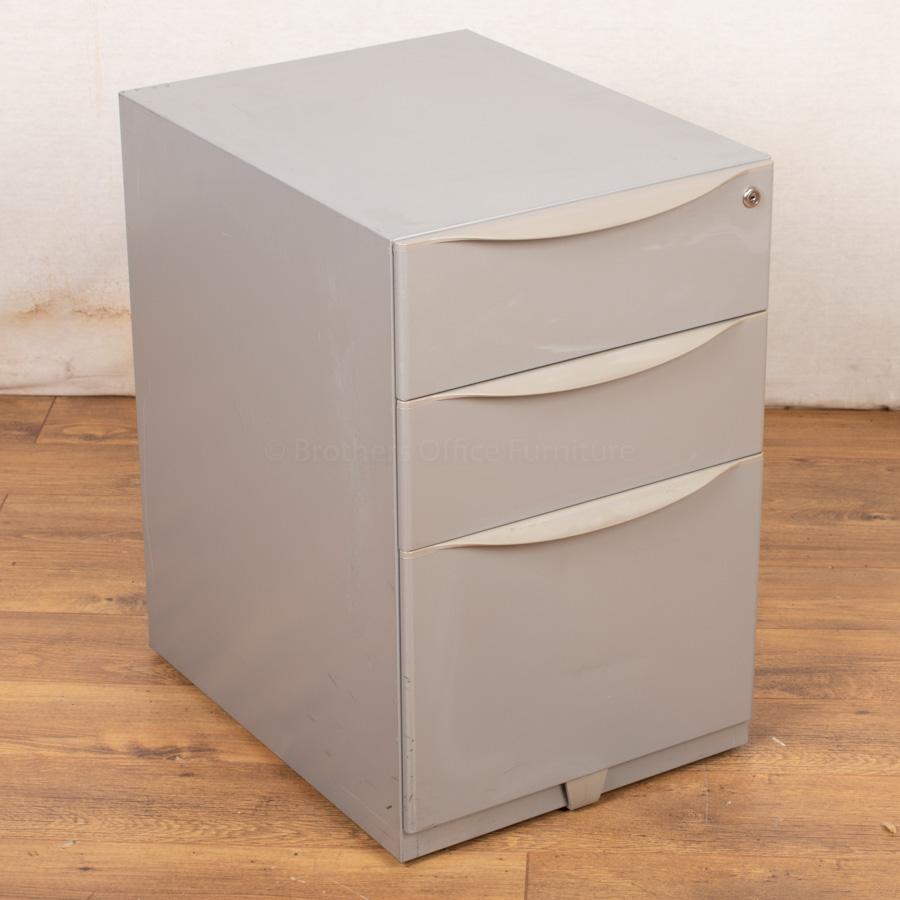 Silver Mobile Under Desk Pedestal (PED57)